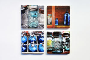 Coasters - photography by Sharon Schindler