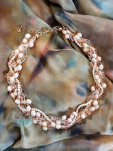 Load image into Gallery viewer, Cynthia Franzek Collection - Necklace Freshwater pearls, Swarovski crystals and ss fittings