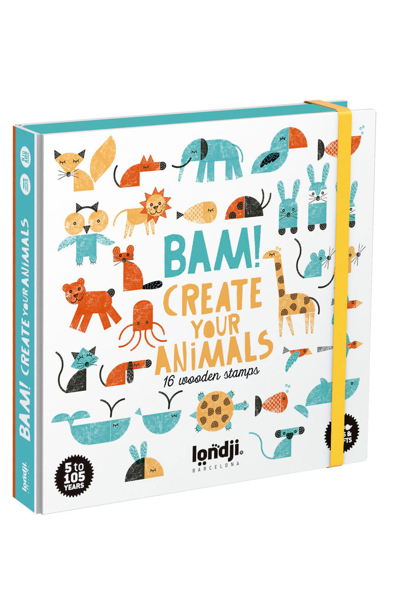 Bam Create Your Animals Wooden Stamps