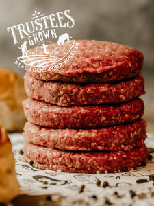 Beef Burger Patties, 100% Grass-fed & Pasture-raised (Appleton Farms - Trustees Grown)