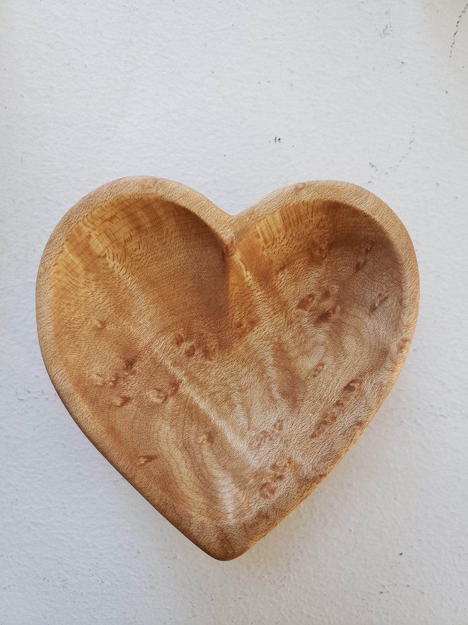 Heart bowl - Birdseye curly maple - small - by Meb's Kitchenwares