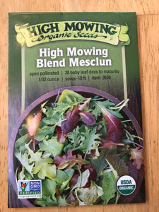Leafy Greens (High Mowing Organic Seeds)