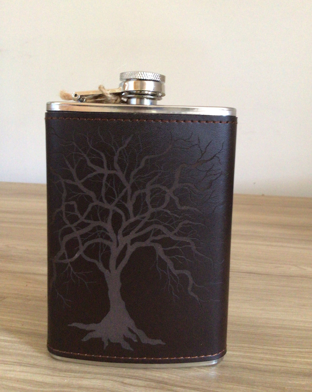 Flask - Stainless Steel & Leather