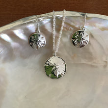 Load image into Gallery viewer, Sand Dollar Pendant & Earrings - Silver Plate