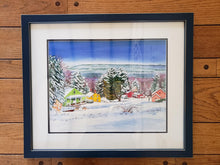 Load image into Gallery viewer, Fruitlands Museum - Winter - Framed Watercolor and giclée by Jackie French Koller