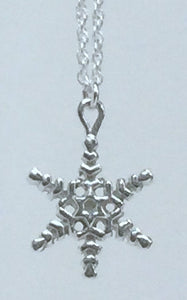 Small - Plated Snowflake on Chain