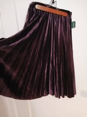 Simons Purple Velvet Skirt