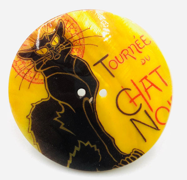 "Bottone Madreperla Henri de Toulouse-Lautrec ""Chat Noir"" 60 mm"