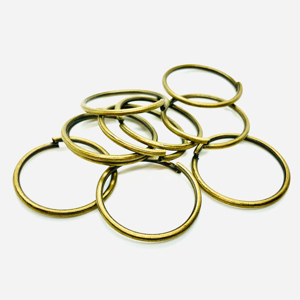 Anello Apribile Colore Bronzo 30 mm x 2 mm - 10pz
