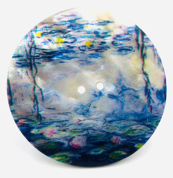 "Bottone Madreperla Claude Monet ""Ninfee"" 60 mm"