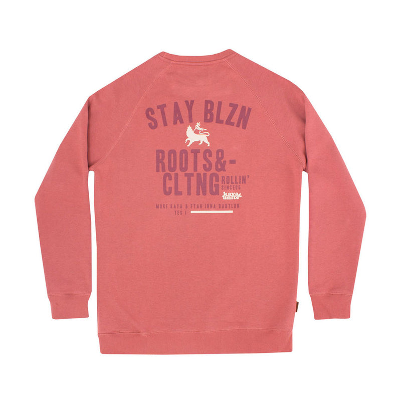 Crewneck Blazing Brick Bordo