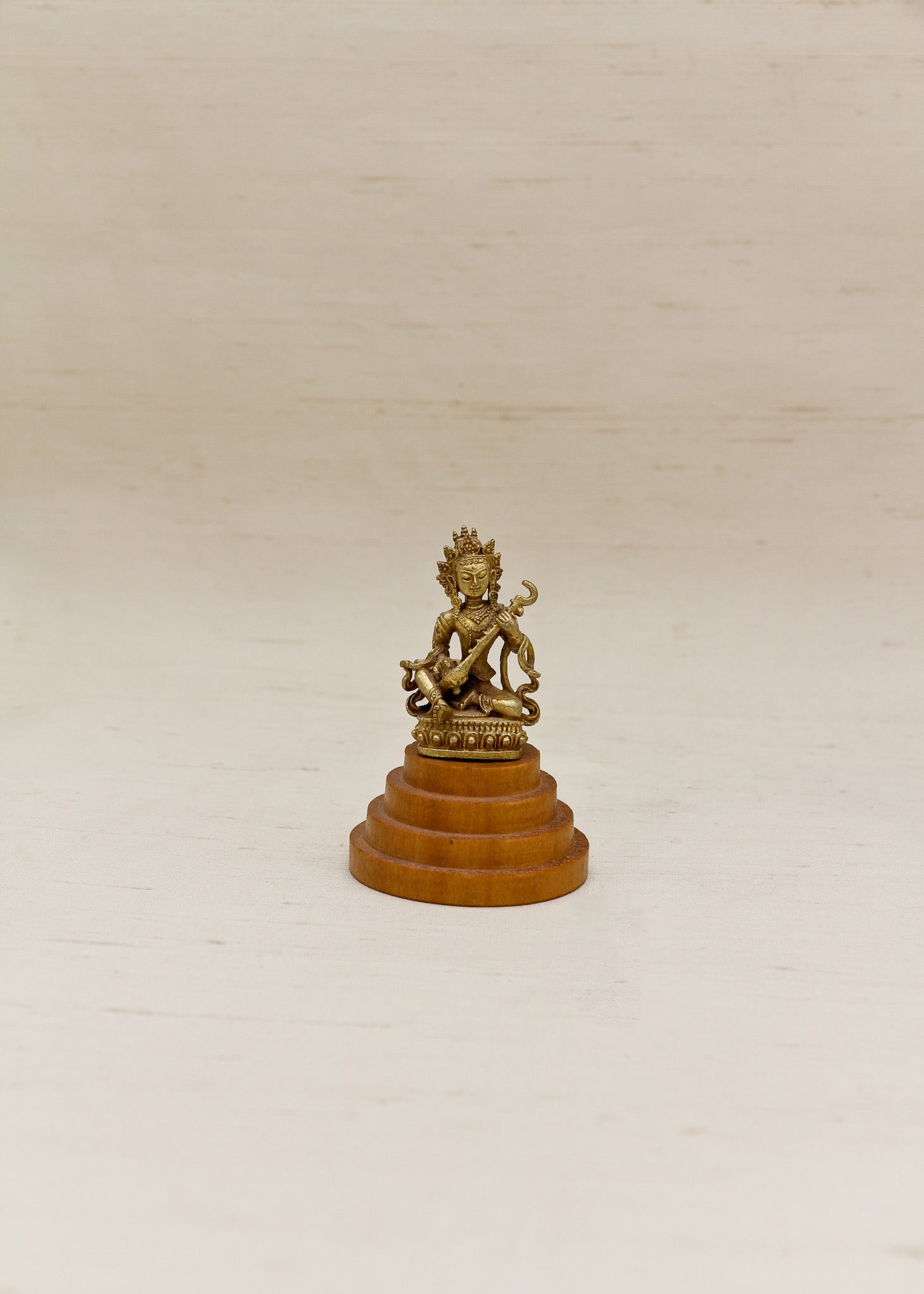 Wooden Pedestal for Mini Statues