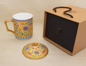Traditional Chinese Golden Mug