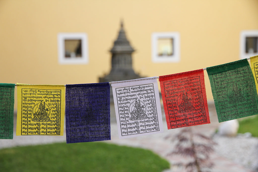 Mini Guru Rinpoche Prayer Flags, 7x9cm
