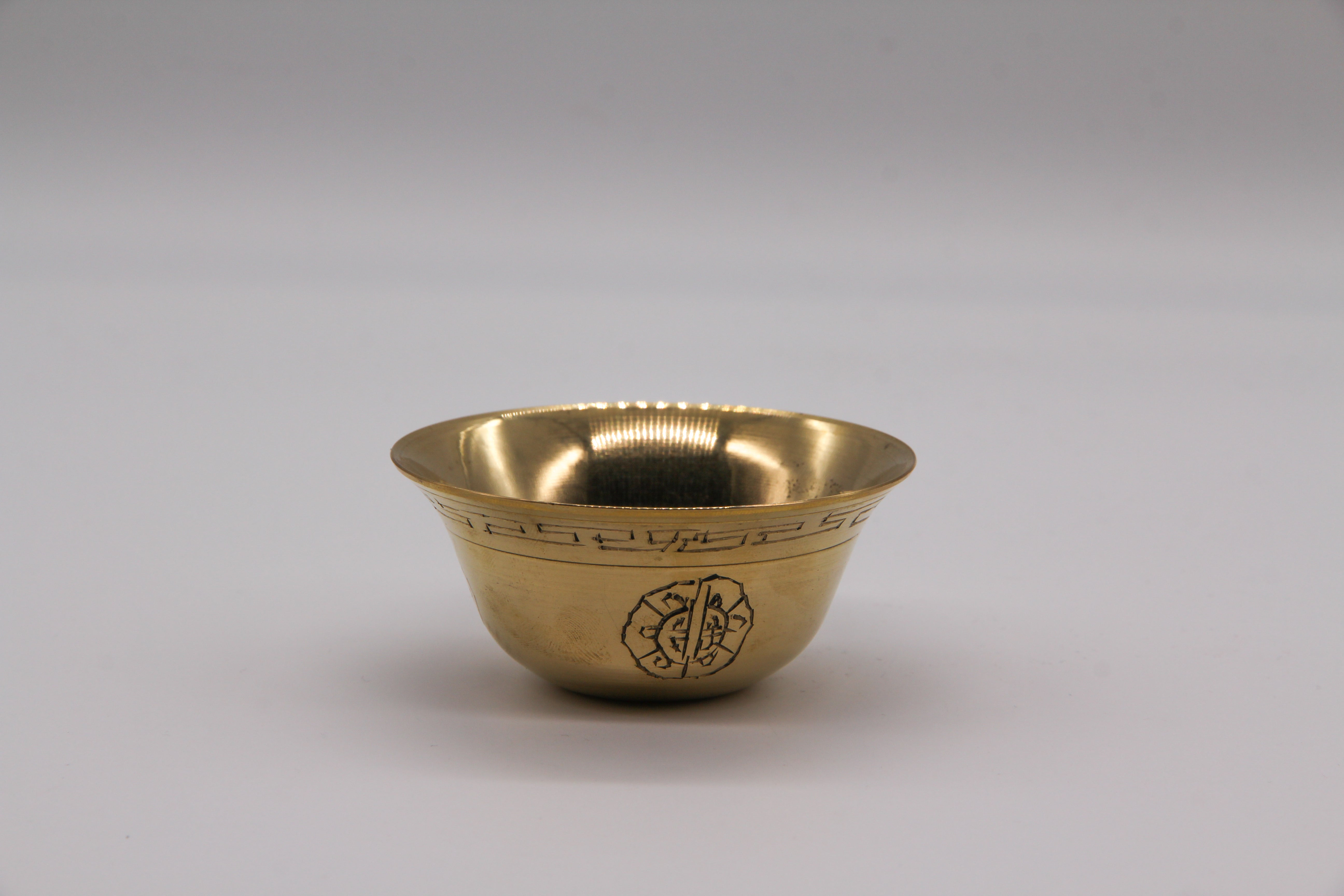 Brass Engraved Offering Bowl Set