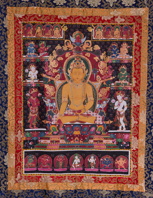 Shakyamuni Traditionelle Newari Thangka
