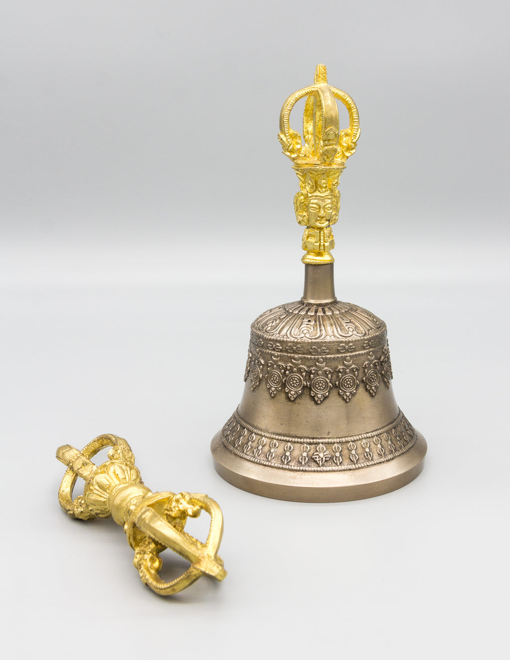 Fine Quality Bell & Dorje with Gold Contrast I – Ani