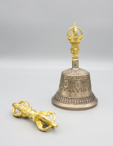 Fine Quality Bell & Dorje with Gold Contrast III – Standard