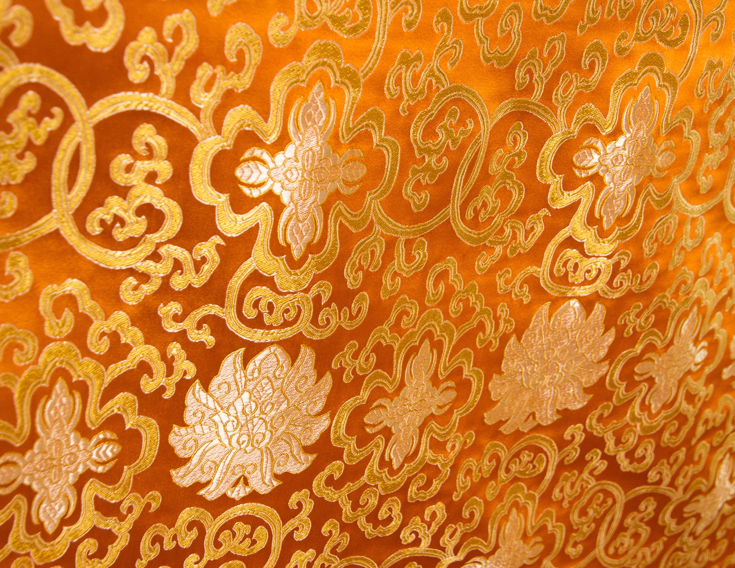 Large Table Cloth – Red & Orange Brocade