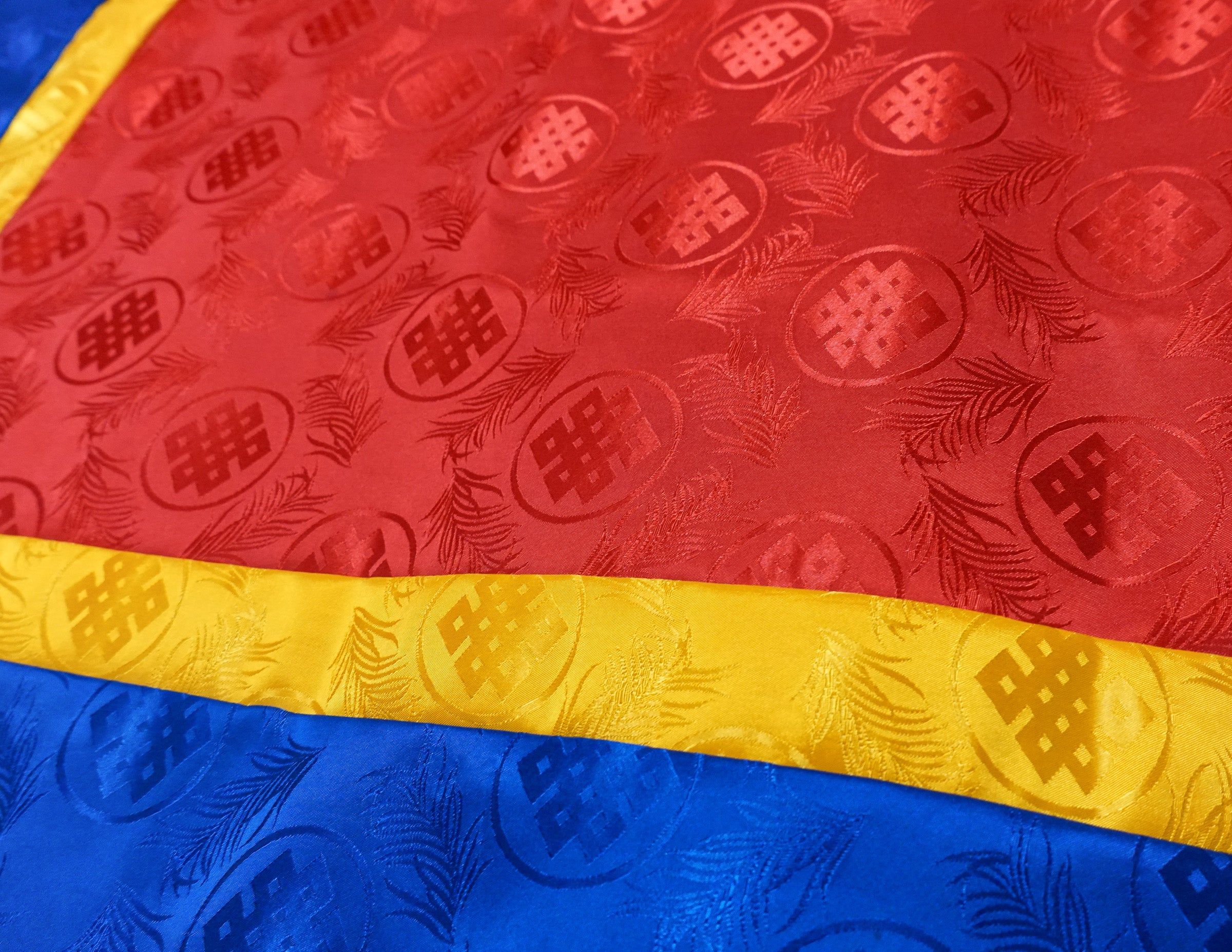 Square Brocade Cloth – Red, Yellow, Blue