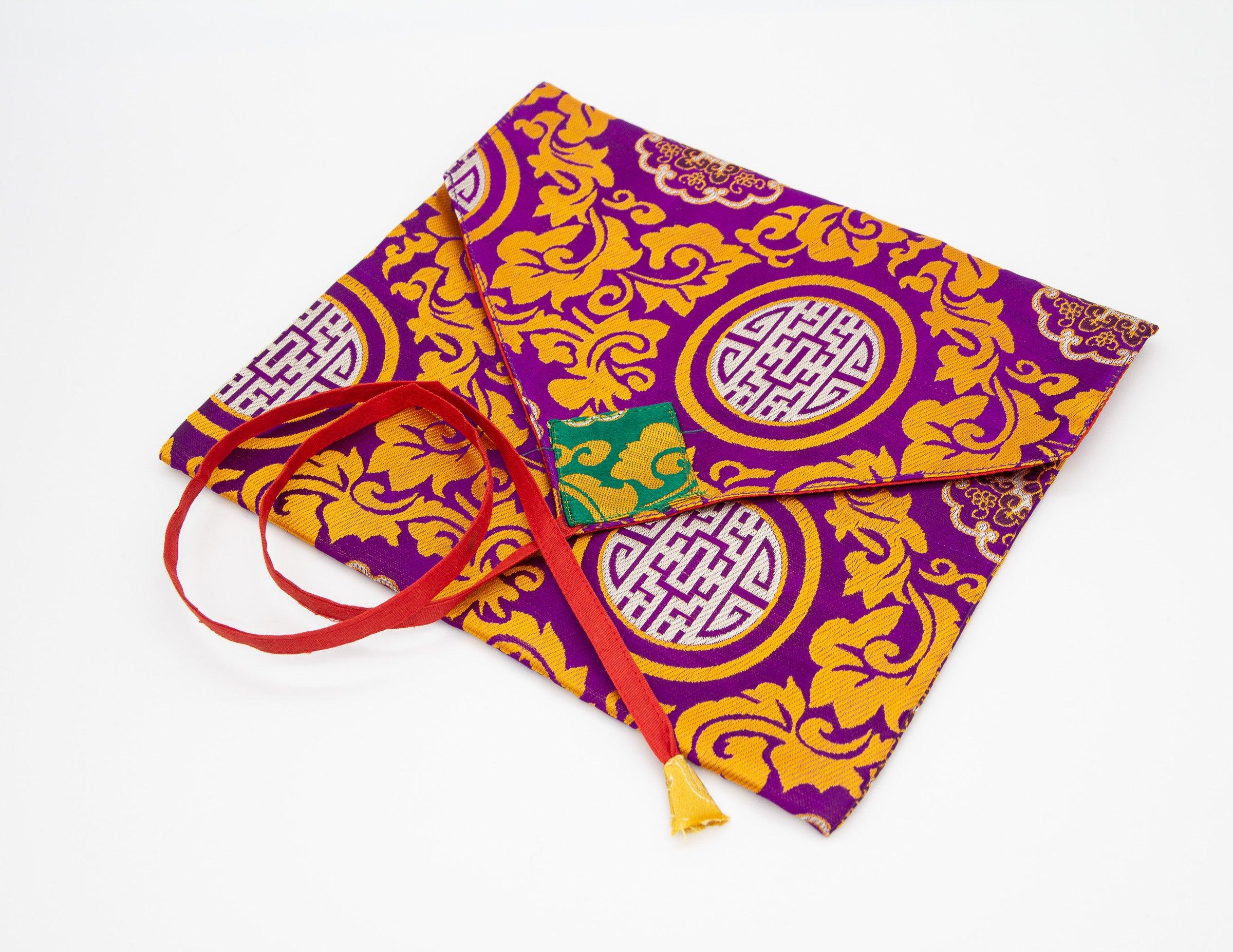Brocade Envelope, Purple & Gold