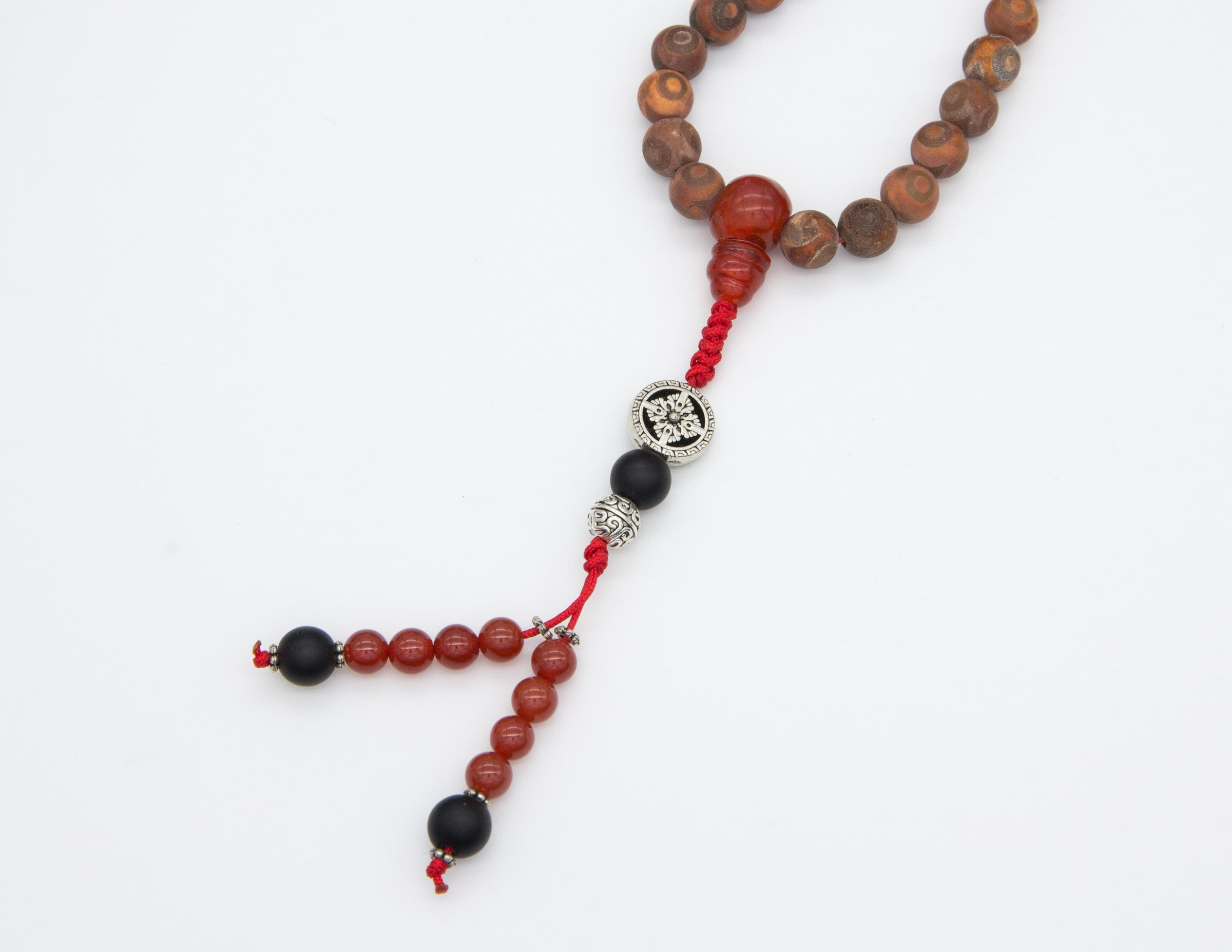 Natural Banded 'Agate Wood' with Spacer Beads