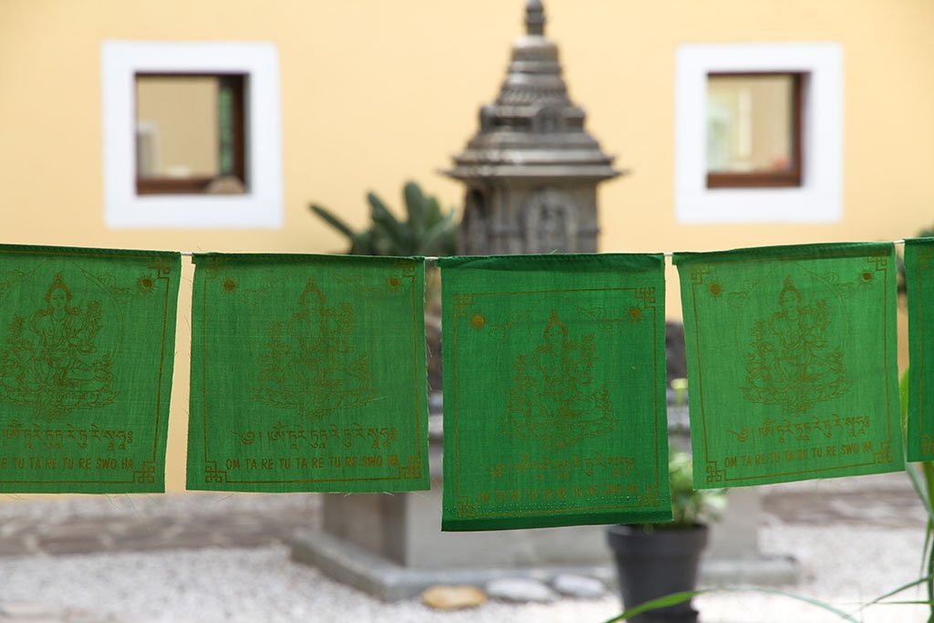 Green Tara Prayer Flags, 20x20cm