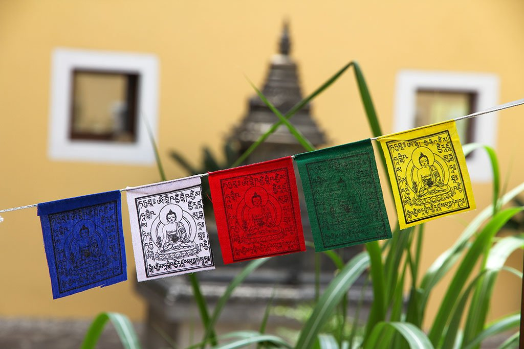 Mini Medicine Buddha Prayer Flags, 7x9cm