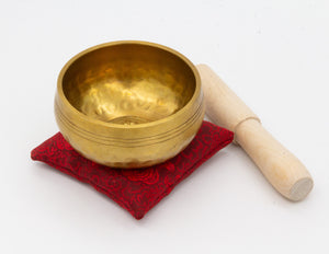 Hammered Brass Singing Bowl III