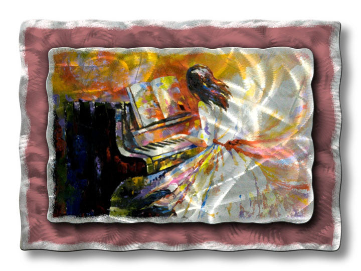 Distracted by Music Piano Metal Wall Hanging