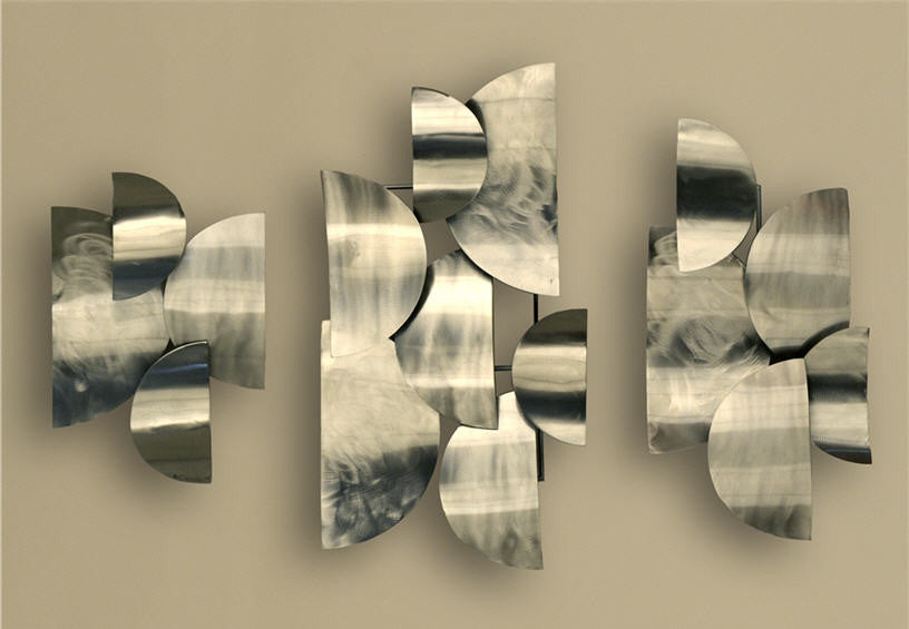 Half Moons Abstract Steel Wall Hanging Set of 3