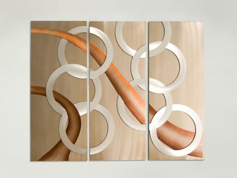 Conjoined Circles Abstract Wall Panels
