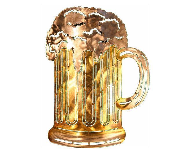 Frosty Beer Mug Metal Wall Art Sculpture