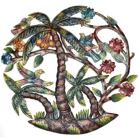 Lively Palm Tree Handmade Metal Wall Art