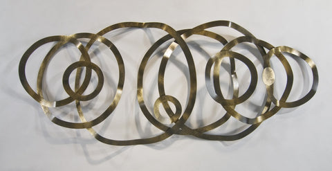 Conjoined Circles Abstract Wall Sculpture