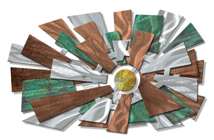 Abstract Organics Geometric Metal Wall Hanging