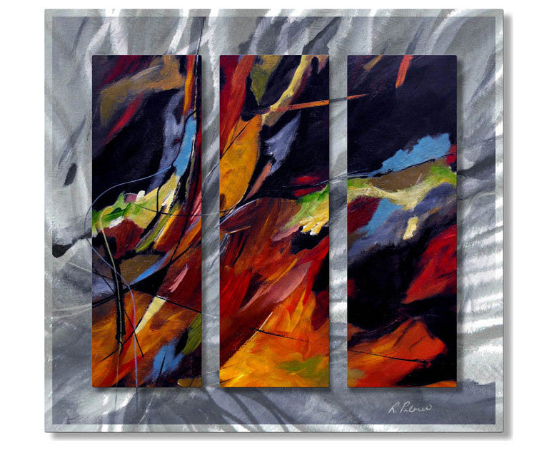 Temptation in Color Abstract Metal Wall Art