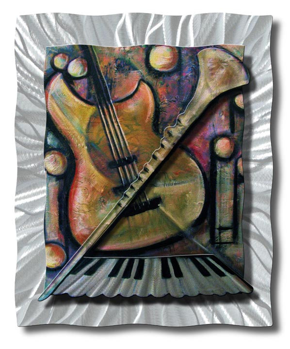 Instruments of Music Abstract Modern Metal Wall Hanging