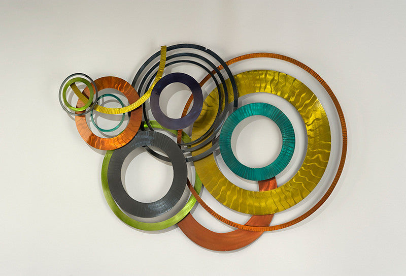 Circles of Color Metal Wall Sculpture