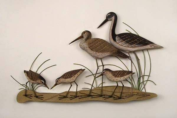Sandpipers and Egrets Metal Wall Hanging