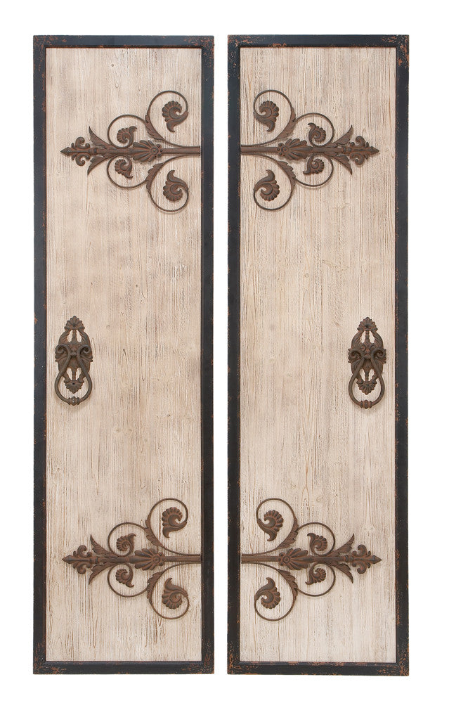 Antique Portal Wall Panel Set of 2