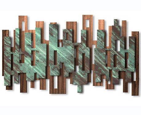 Modern Skyline Metal Wall Sculpture