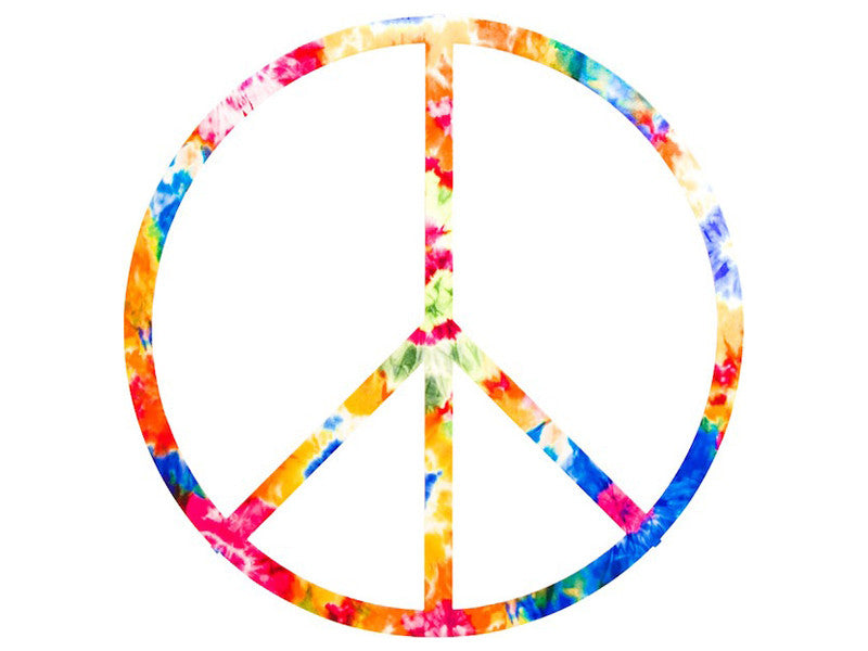 Sixties Peace Sign Metal Wall Sculpture