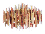 Brass and Copper Rods Abstract Wall Art