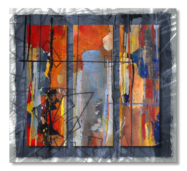 Interrupted Impressionist Abstract Metal Wall Hanging