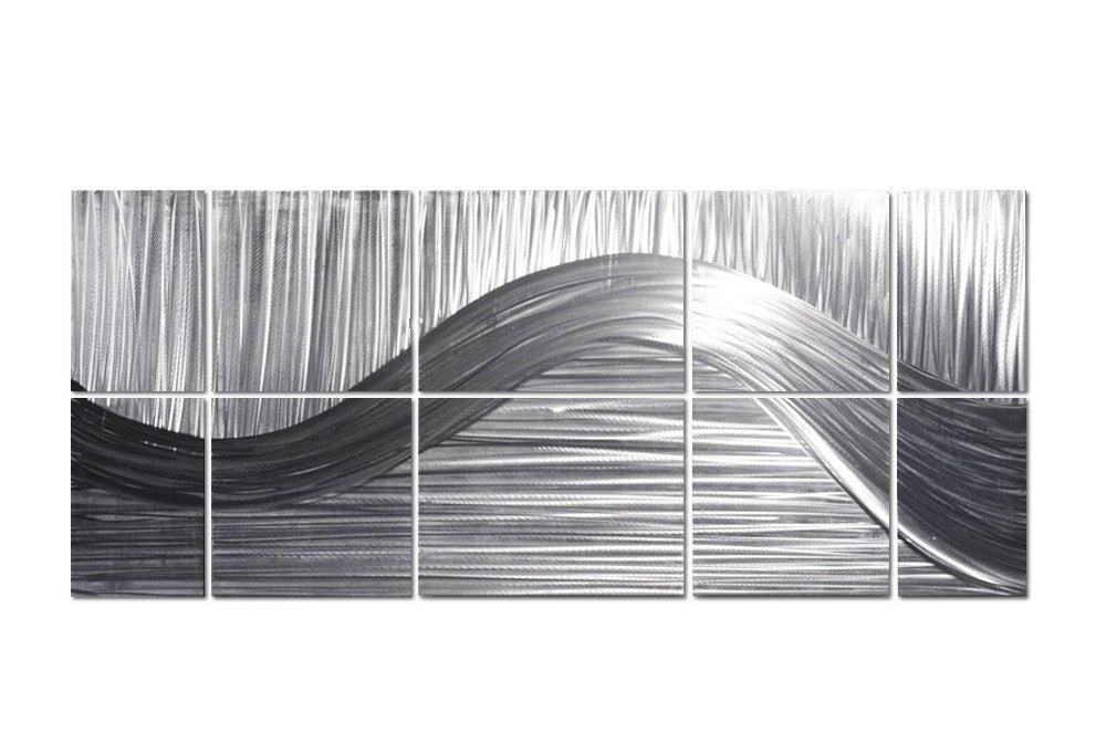 Stranded Bands of Silver Contemporary Wall Art