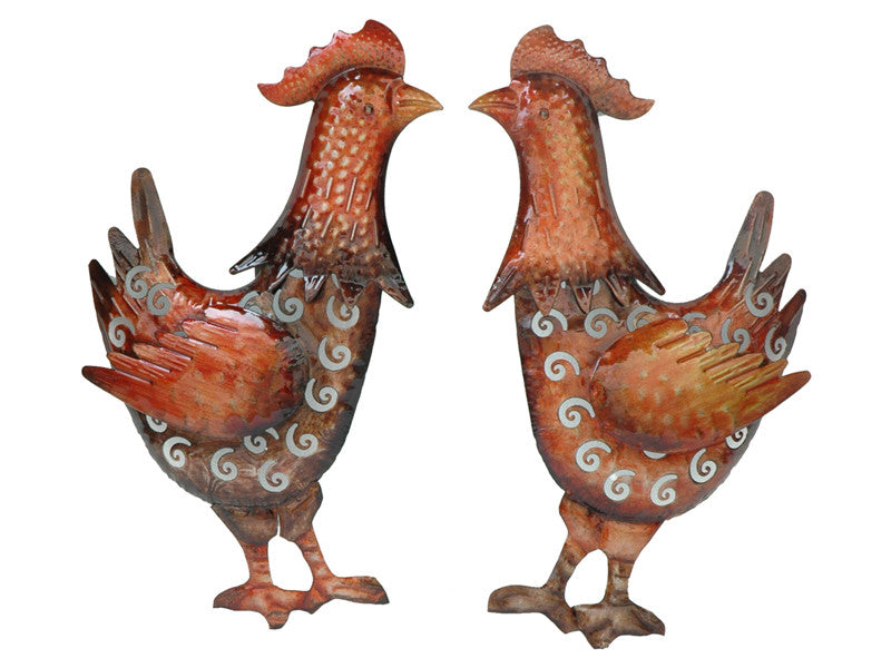 Cockadoodle Doo Rooster Wall Art Set of 2