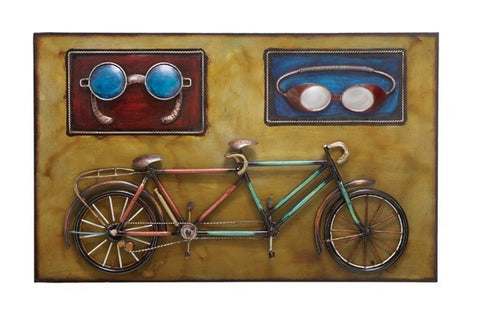 Bicycle- Built-for-Two Unique Metal Art