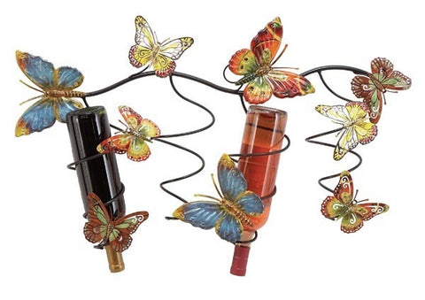Butterfly Breeze Metal Wall Wine Rack