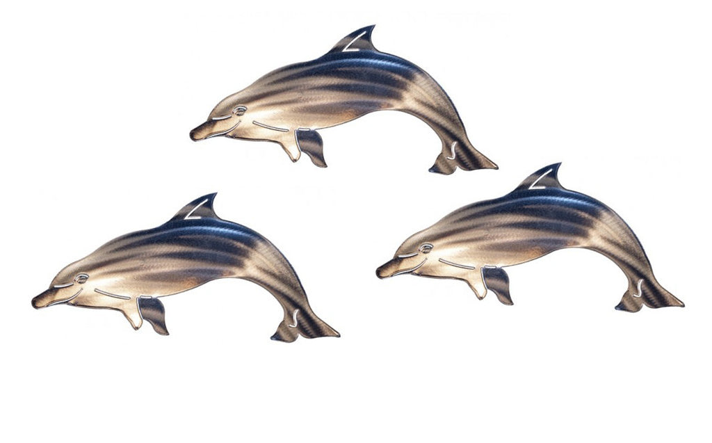 Delighted Dolphins Wall Art Sculpture Set of 3